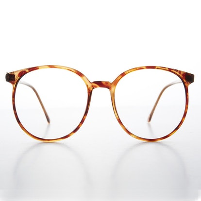 Big '80s Secretary Eyeglasses With Clear Lens