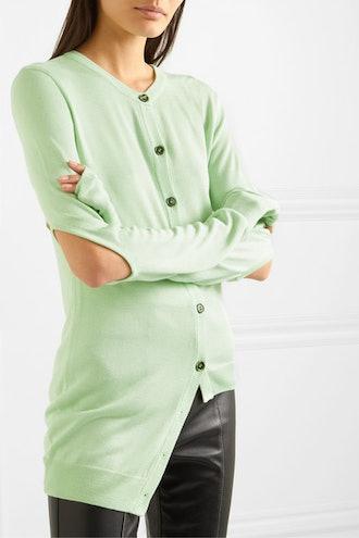 Asymmetric Cutout Modal Cardigan