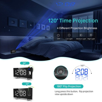 PICTEK Projection Alarm Clock