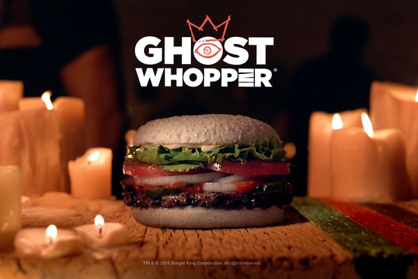 Burger King's Halloween 2019 Ghost Whopper will be for sale Oct. 24