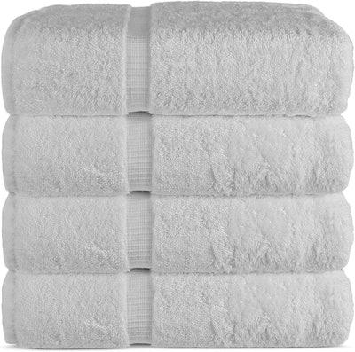 Chakir Turkish Linens Luxury Hotel & Spa Bath Towels (Set Of 4)