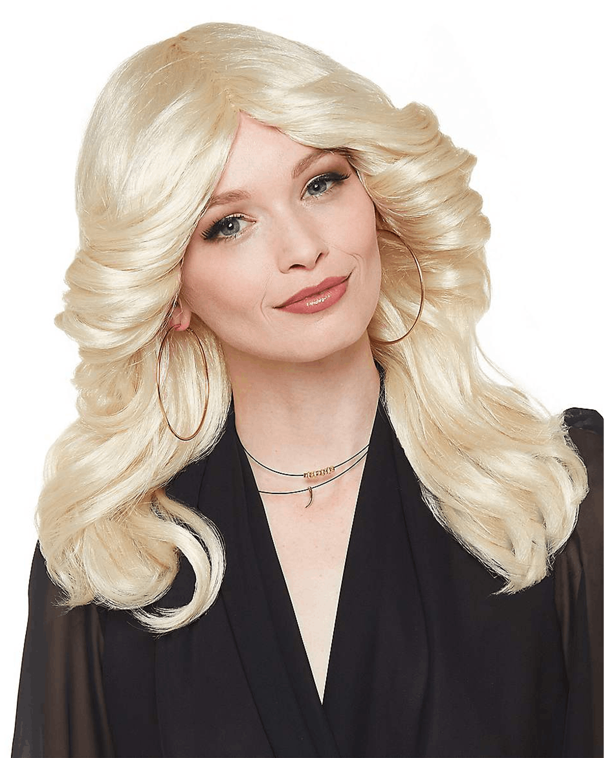 Blonde Feathered Disco Wig