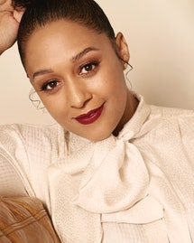 Tia Mowry for Romper's Holiday Issue 2019.