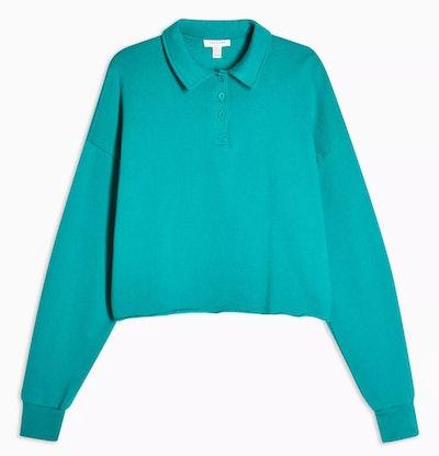 Teal Rugby Polo Sweatshirt