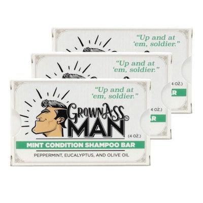 Grown Ass Man Co. Mint Condition Shampoo Bar (3-Pack)