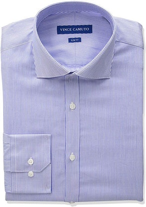 Vince Camuto Men's Slim Fit Spread Collar Dress Shirt