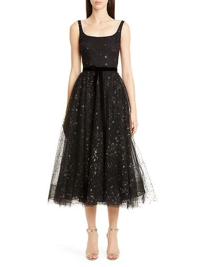 Glitter Star Tulle Cocktail Dress