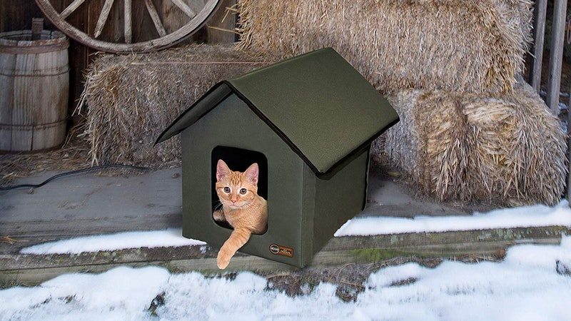 This heated house for cats is perfect for winter.