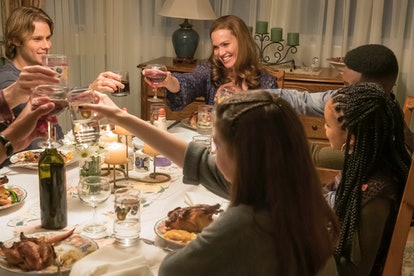 The Pearson family eating dinner on This Is Us