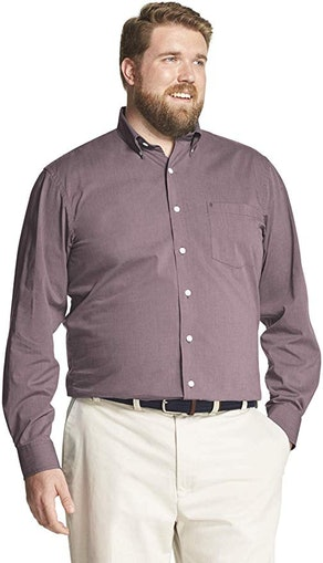 IZOD Men's Big and Tall Stretch Performance Dress Shirt