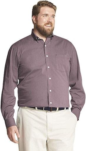 IZOD Men's Big and Tall Stretch Performance Dress Shirt