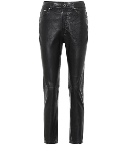 Shiloh Straight Leather Pants