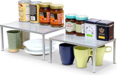 Simple Houseware Expandable Stackable Kitchen Shelf Organizer