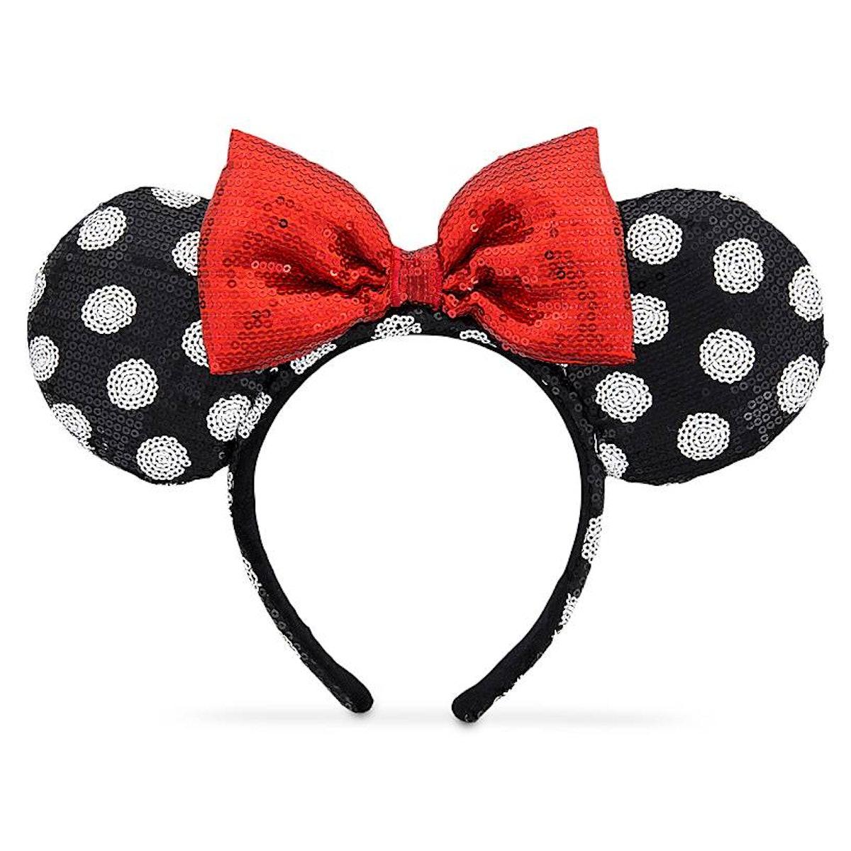 Minnie Mouse Ear Headband — Black and White