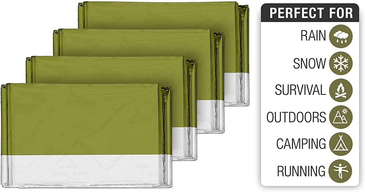 Swiss Safe Thermal Blankets (4-Pack)