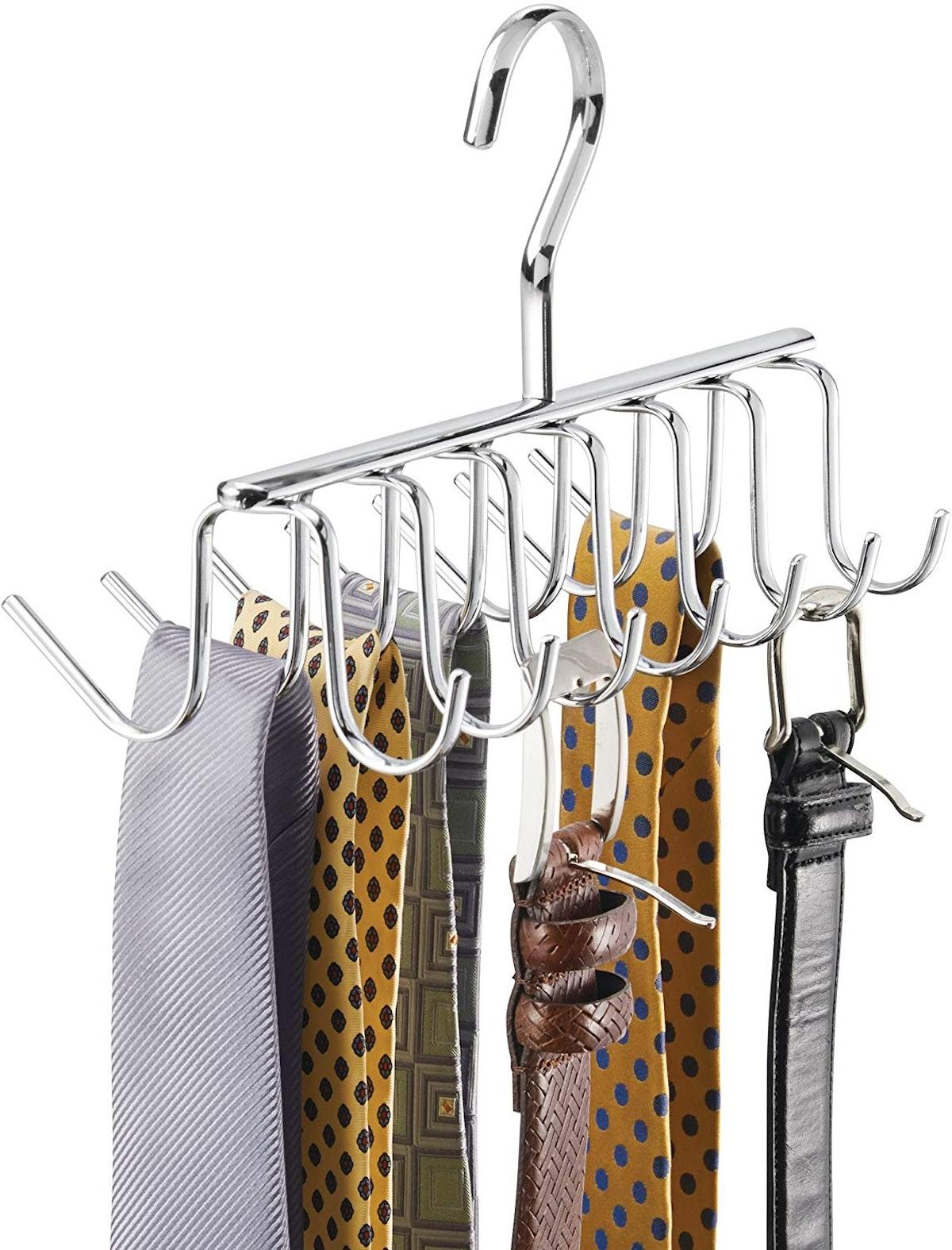 iDesign Belt And Tie Hanger
