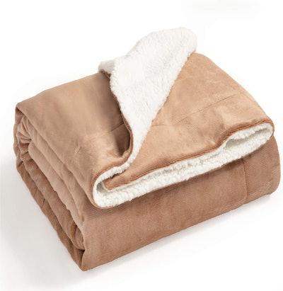 Bedsure Sherpa Fleece Blanket Throw