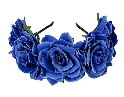 Rose Flower Headband Crown