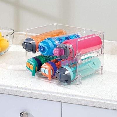 mDesign Water Bottle Stacker (2-Pack)