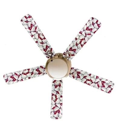 "52"" Hello Kitty Jam 4 Blade Ceiling Fan, Light Kit Included"
