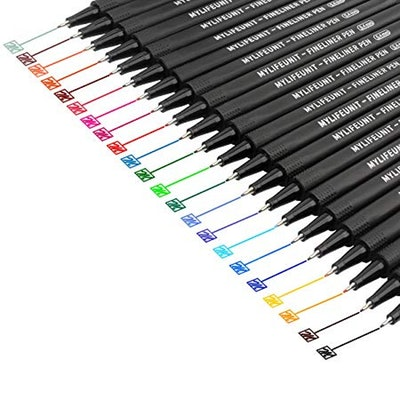 MyLifeUNIT Fineliner Pens (22-Pack)