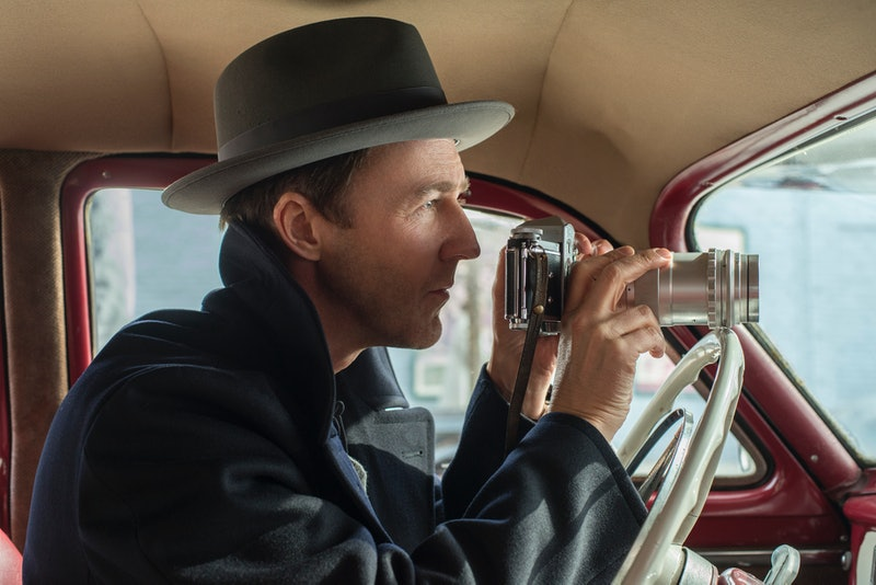 Edward Norton as Lionel Essrog in Motherless Brooklyn