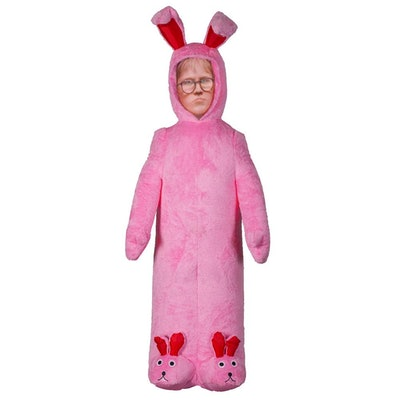 Warner 6 ft. Pre-lit Inflatable Ralphie with Pink Fuzzy Bunny Suit