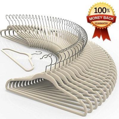 TechZoo Velvet Hanger Set (50-Pack)