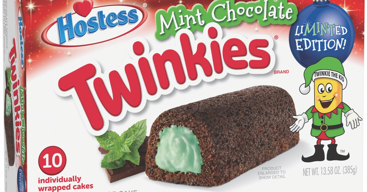Mint Chocolate Twinkies Have Hit Shelves For The Holidays