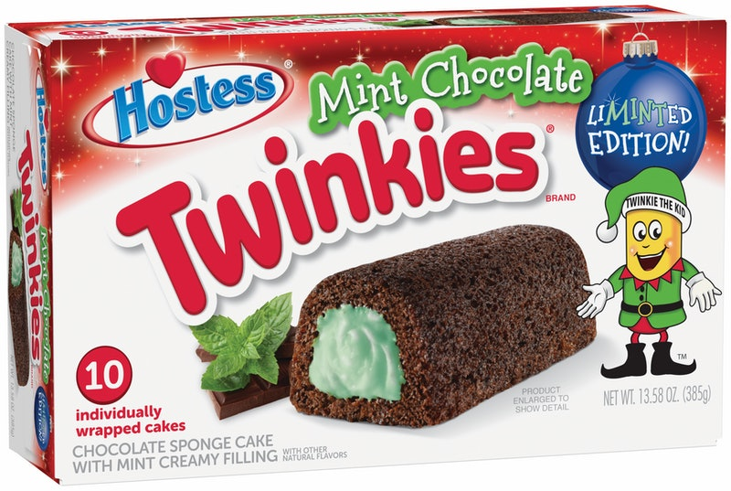 Mint chocolate Twinkies are the perfect holiday treat for mint lovers.