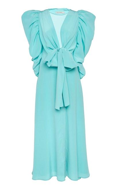 Hel Slit Silk Midi Dress