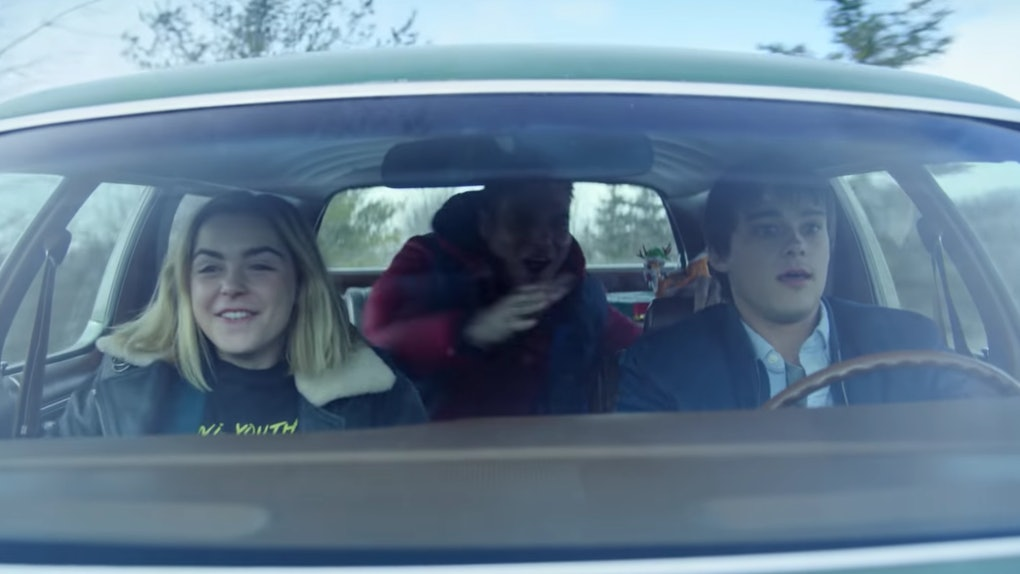 car scene from Let It Snow trailer