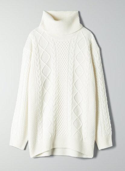 Babaton Erickson Turtleneck Cable-Knit Turtleneck Sweater