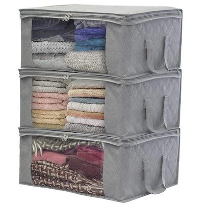 Sorbus Foldable Storage Bag Organizers (3-Pack)