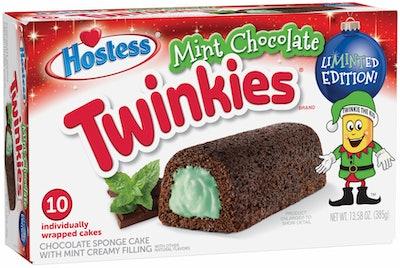 Hostess Merry Mint Choc Cake Twinkie