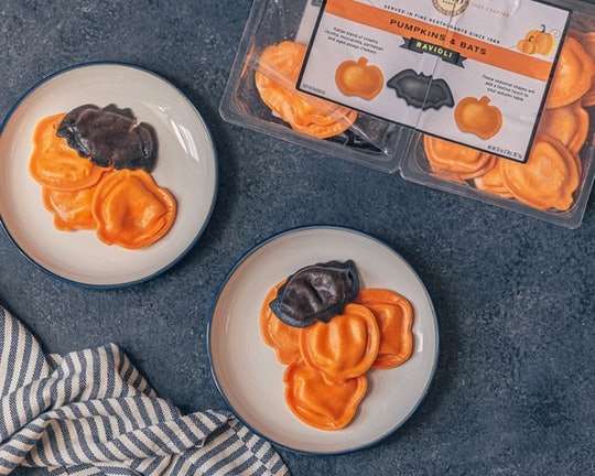 Costco's pumpkin and bat-shaped ravioli is perfect for Halloween dinner.