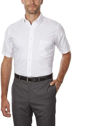 Van Heusen Men's Short Sleeve Oxford Dress Shirt