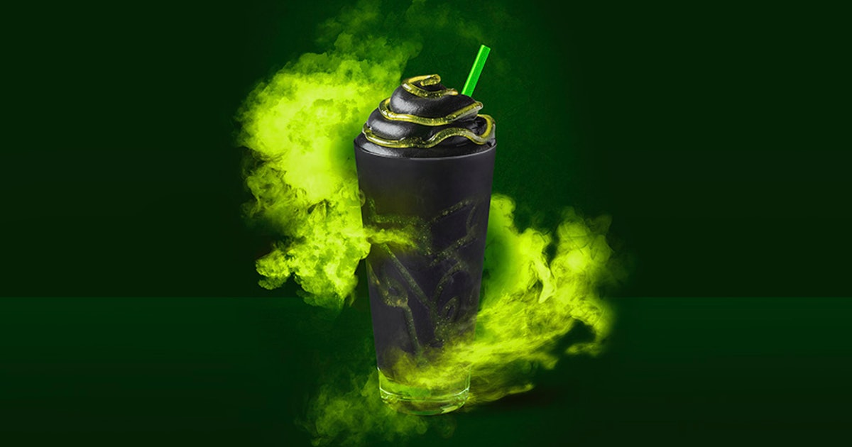 Starbucks' Halloween 2019 Phantom Frappuccino Comes With Green Slime