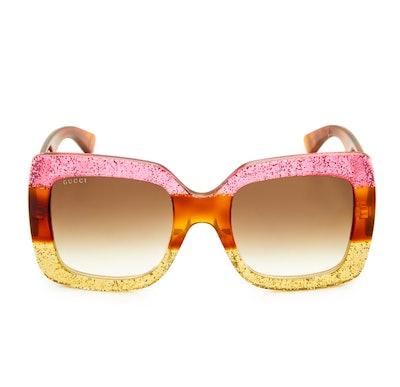 Square Urban Web Block Sunglasses