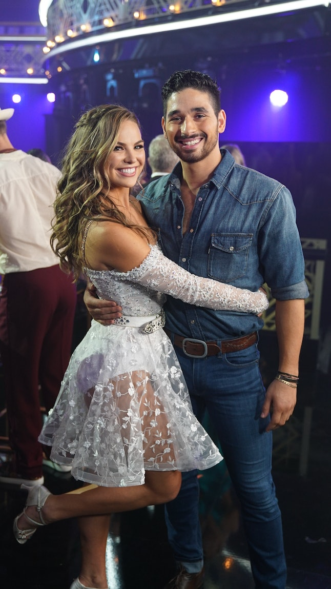 Hannah Brown and Alan Bersten during week 6 of DWTS.