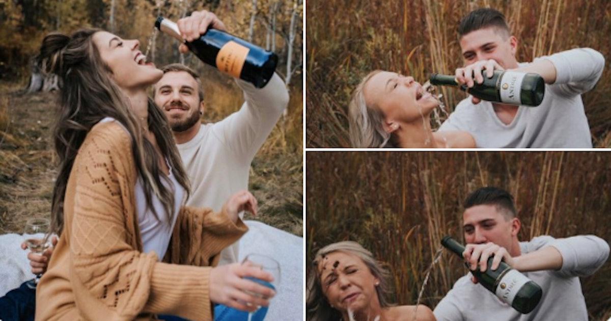 Alyssa Snodsmith & Collin Hewett's Engagement Photo Is Hilarious