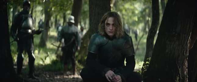 Robert Pattinson as the Dauphin of France in The King