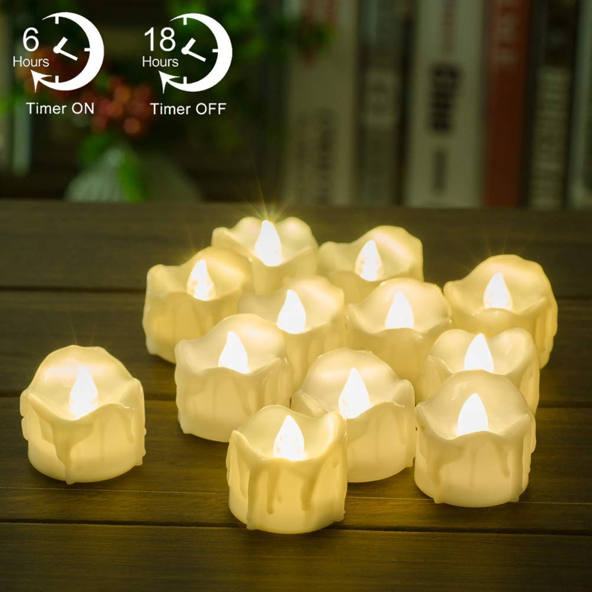PChero Flameless Timer Candles (12-Pack)