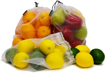 Earthwise Reusable Mesh Produce Bags (4-Pack)