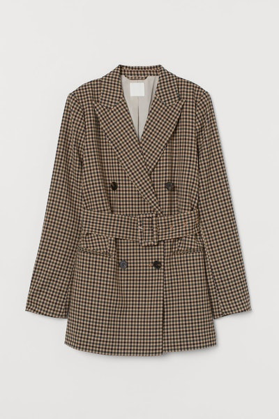 Double-Breasted Belted Jacket