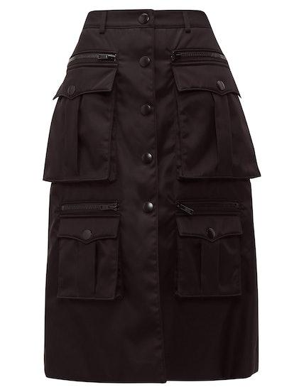 Statement Pocket Nylon Cargo Skirt