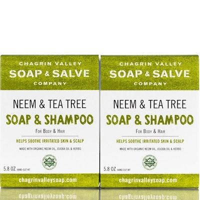 Chagrin Valley Soap & Salve Neem & Tea Tree Soap & Shampoo (2-Pack)