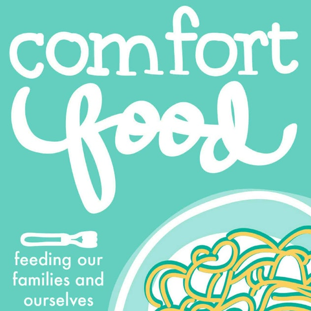 A title card for the Comfort Food podcast featuring a graphic of a bowl of spaghetti.