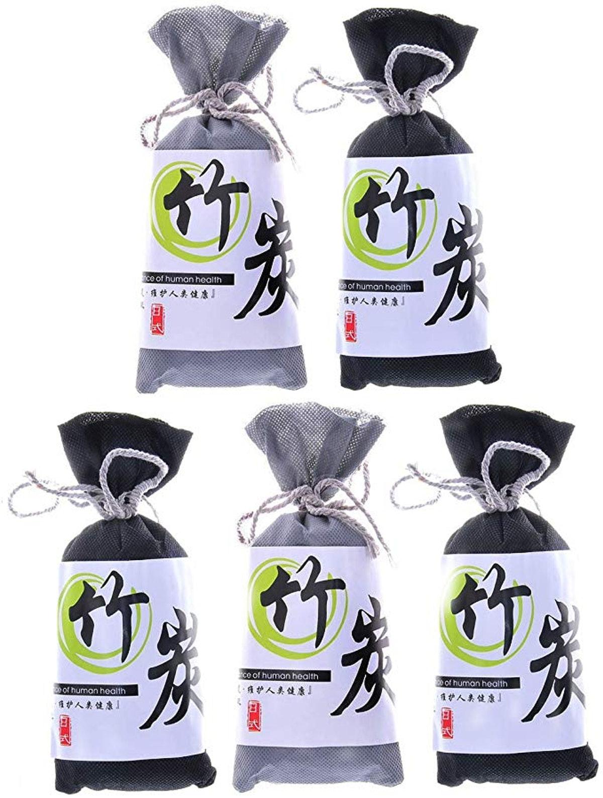 Homy Feel Air Purifying Bamboo Charcoal Air Freshener (5-Pack)