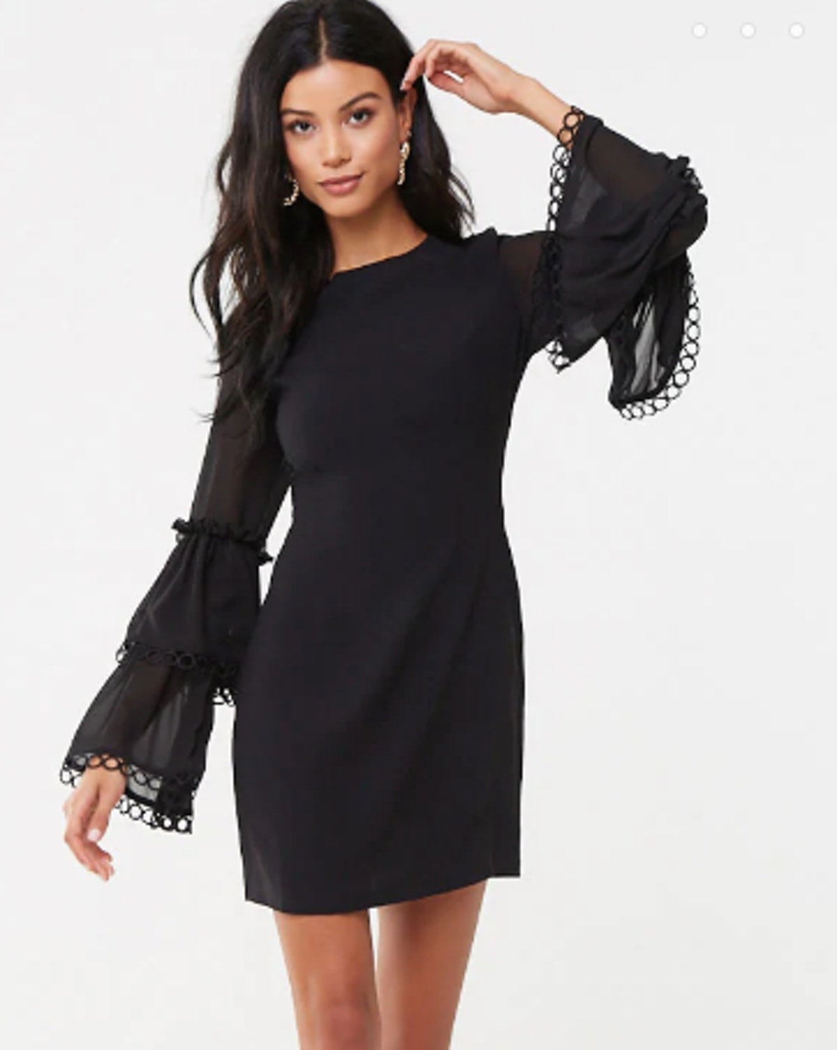 Tiered Bell-Sleeve Bodycon Dress